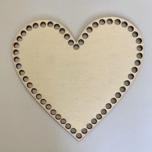 Dno na košík - Srdce 20 cm