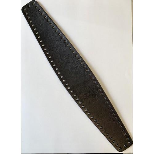 Dno na tašku 5-9x50 cm čierne, koženkové