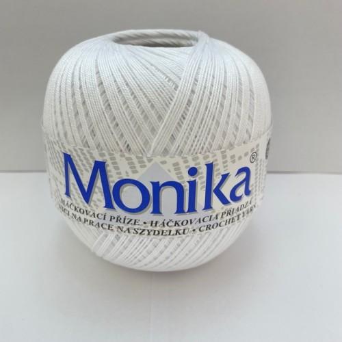 Háčkovacia priadza Monika 0010, biela