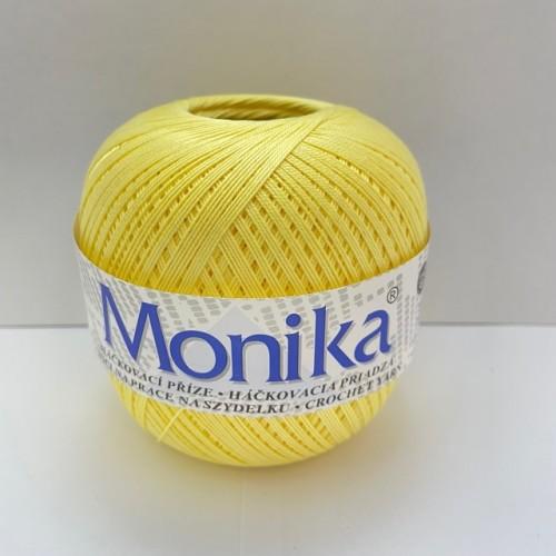 Háčkovacia priadza Monika 1134, svetlo žltá
