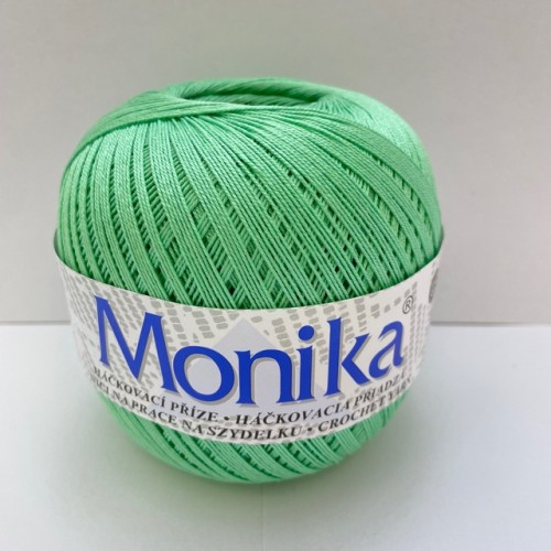 Háčkovacia priadza Monika 6144, zelená
