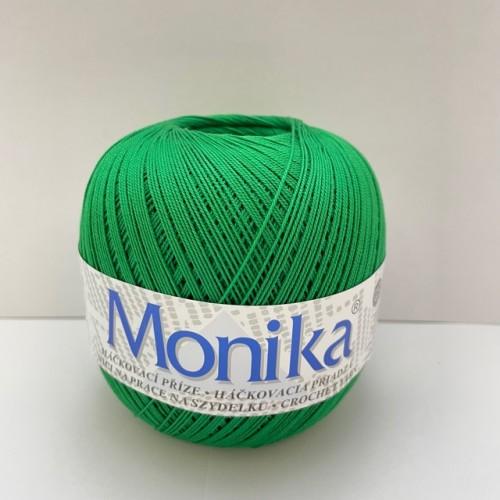 Háčkovacia priadza Monika 6184, tmavo zelená