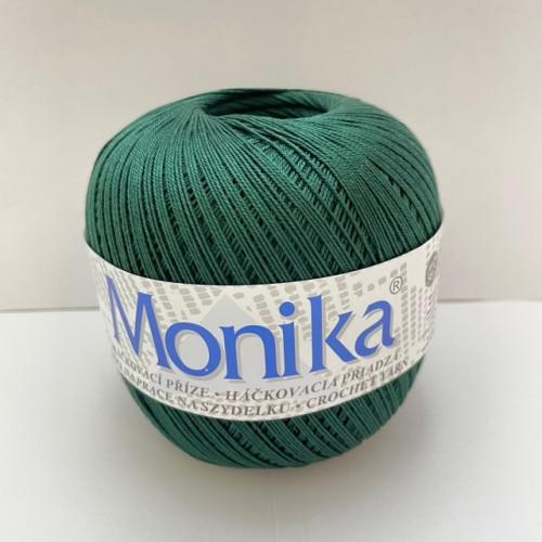 Háčkovacia priadza Monika 6884, tmavo zelená